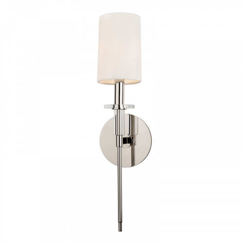 Wall Light Fitting Polished Nickel Hudson Valley Amherst 8511-PN-CE