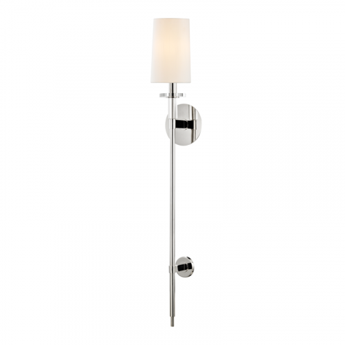 Tall Wall Light Polished Nickel Hudson Valley Amherst 8536-PN-CE