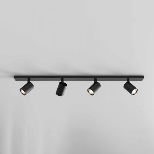 Astro 1286084 Ascoli 4 Light Bar Spotlight Matt Black Frame