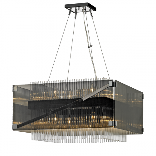 Ceiling Chandelier 8 Light Dark Bronze Troy Apollo F5906-CE