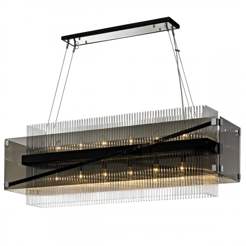 Ceiling Bar Pendant Light Dark Bronze Troy Apollo F5908-CE