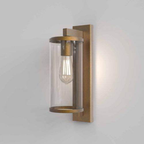 Astro 1413003 Pimlico 400 Outdoor Single Wall Light Antique Brass Frame