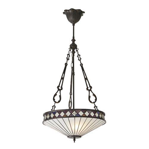 Interiors 1900 Tiffany Fargo 3 Light Pendant 64146