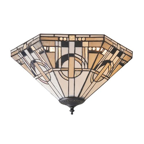 Interiors 1900 Metropolitan 70779 Tiffany 2 Light Flush Fitting
