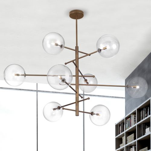 Metal Lux Estro Ceiling Multi-Arm Pendant 8 x G9 Burnished Bronze 267.180.04