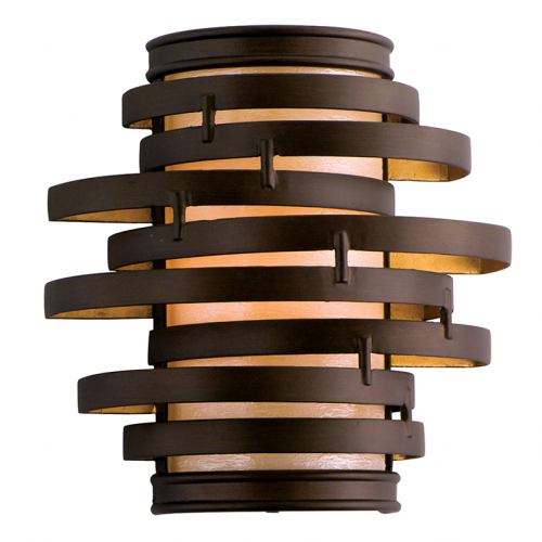 Wall Light Bronze/Gold Leaf Corbett Vertigo 113-11-CE