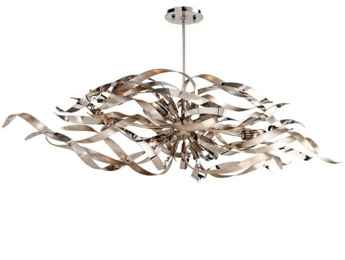 Ceiling Bar Pendant Silver Leaf 6 Light Corbett Graffiti 154-56-CE