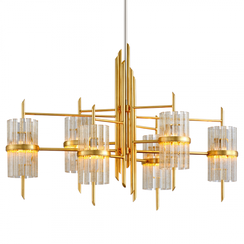Bar Ceiling Pendant 6 Light Gold Leaf Corbett Symphony 257-56-CE