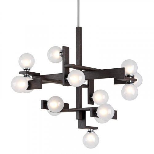 Multi-Arm Ceiling Pendant Light Forest Bronze Troy Network F6074-CE