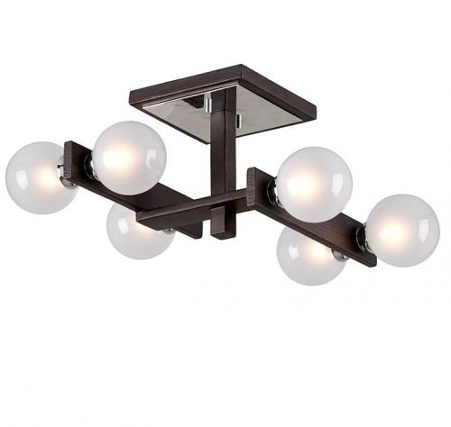 Semi Flush Multi-Arm Ceiling Light Forest Bronze Troy Network C6070-CE