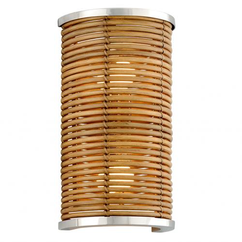 Wall Light Rattan / Steel 2 x E14 Corbett Carayes 277-12-CE