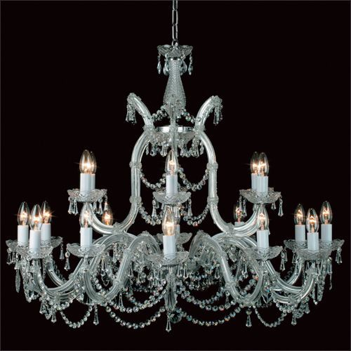 Impex CP00150/18+1/CH Maria Therese 19Lt Strass Crystal Chandelier