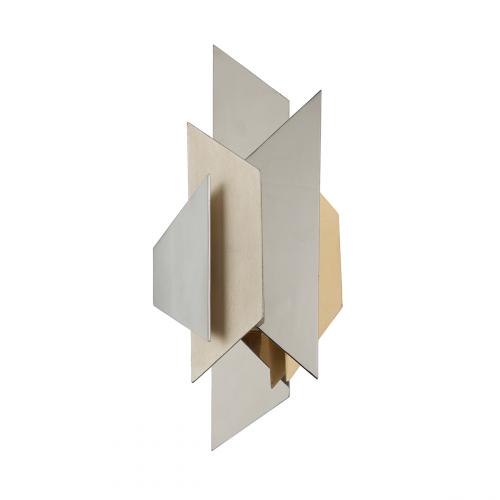 Wall Light Silver / Gold Leaf Corbett Modernist 207-11-CE