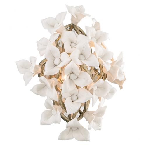 Wall Light Silver Leaf Corbett Lily 211-12-CE