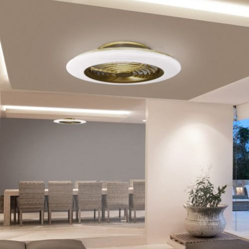 Mantra Alisio Gold Ceiling Fan LED Light Dimmable Remote Controlled M6707