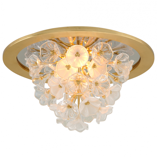 Semi Flush LED Ceiling Light Gold Leaf Corbett Jasmine 268-31-CE