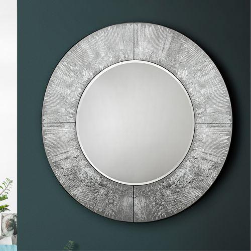 Aurora Round Silver Mirror