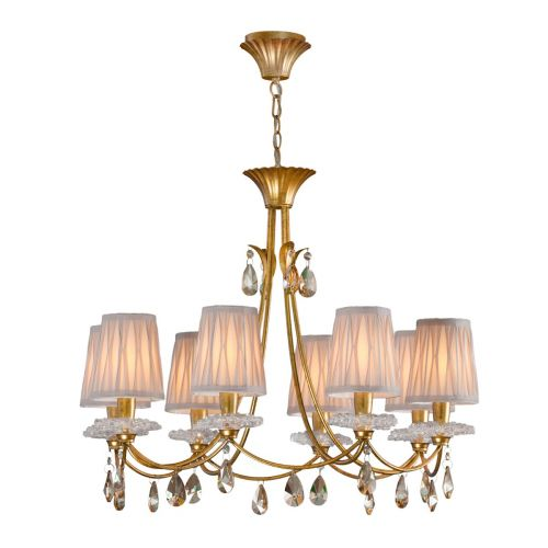 Mantra M6291 Sophie Large 8 Light Gold Chandelier