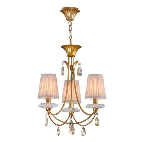 Mantra M6293 Sophie Small 3 Light Gold Chandelier
