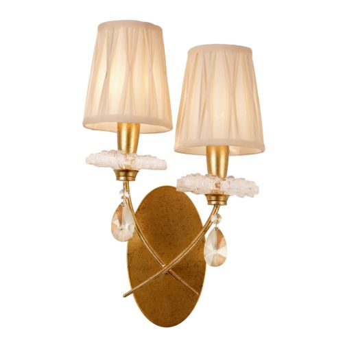 Mantra M6294 Sophie Twin Wall Light Gold