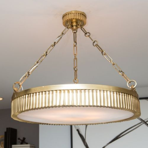 Ceiling Pendant 5 Light Aged Brass Hudson Valley Lynden 522-AGB-CE