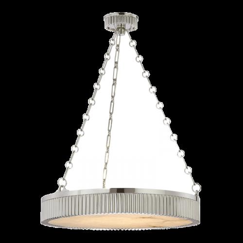 Ceiling Pendant 5 Light Polished Nickel Hudson Valley Lynden 522-PN-CE