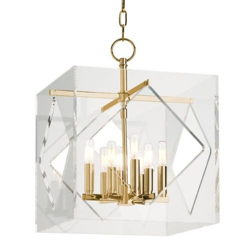 Ceiling Pendant 8 Light Aged Brass Hudson Valley Travis 5916-AGB-CE