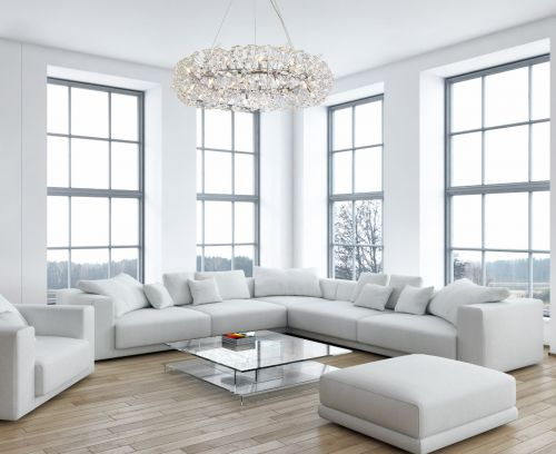 Ceiling Pendant 26 Light G9 Polished Chrome/Crystal Leucas LEK3358
