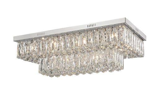 Impex Lilou 18 Light Flush Convertible Ceiling Pendant Chrome