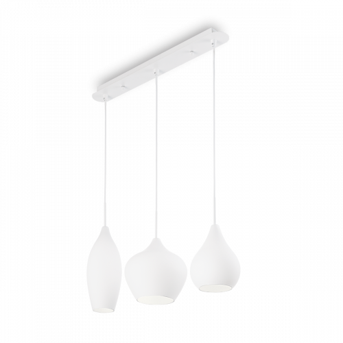 Ideal Lux Soft Chandelier 3 Light White IDE/111858