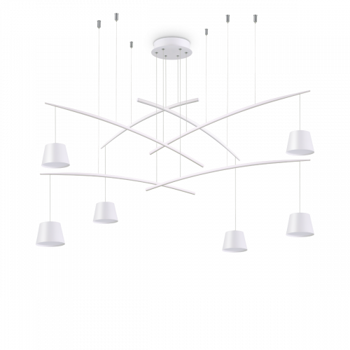 Ideal Lux Fish Chandelier 6 Light White IDE/196985