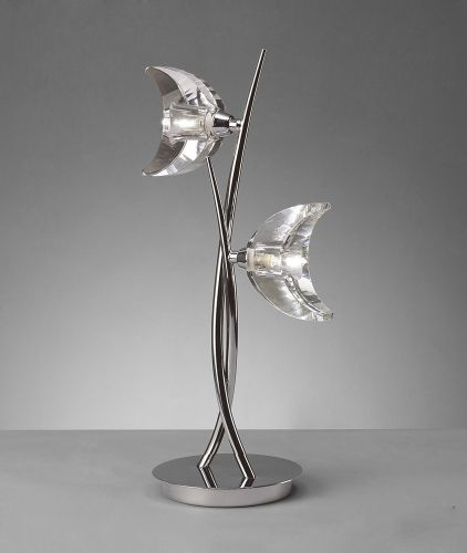 Mantra Eclipse 2 Light Polished Chrome Table Lamp M1460