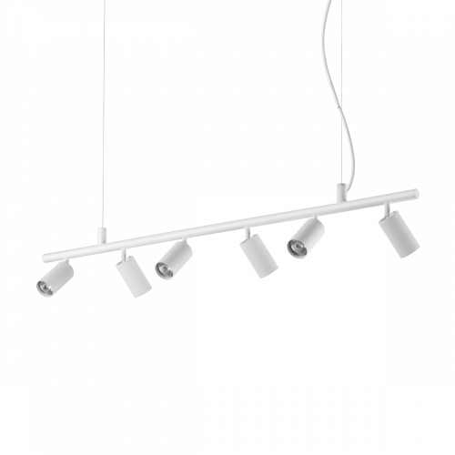 Ideal Lux Dynamite Spotlight Bar 6 Light White IDE/231433