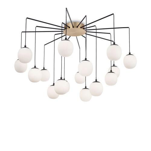 Ideal Lux Rhapsody Chandelier 16 Light Black IDE/236964