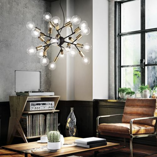 Ideal Lux Spark Chandelier 24 Light Black IDE/238241