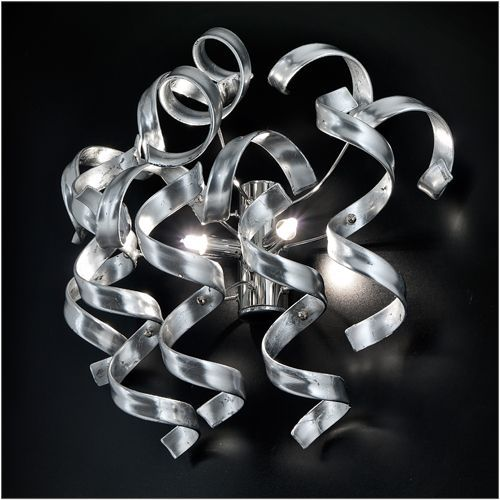 Metal Lux Astro Silver Leaf Double Wall Light 206.102.15