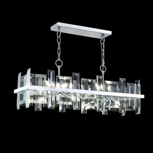 Maytoni Cerezo Modern 8 Light Ceiling Pendant Fitting Chrome MOD201PL-08N