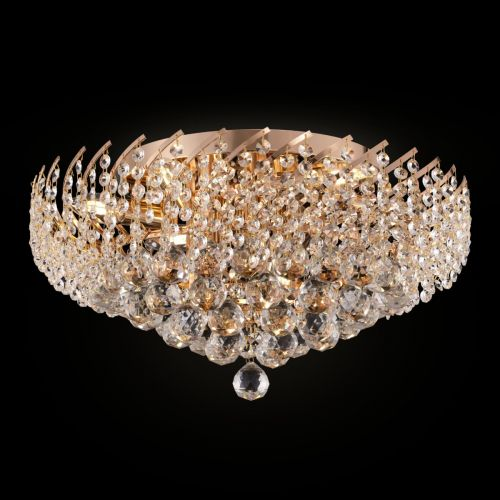 Maytoni Karolina Royal Classic 9 Light Flush Fitting Gold DIA120-09-G
