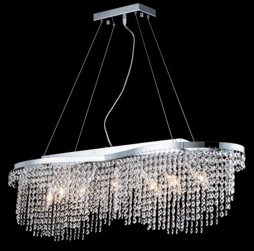 Maytoni Toils Diamant Crystal 7 Light Ceiling Pendant Nickel DIA600-07-N