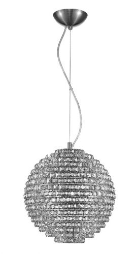 Impex Nord 5 Light Ceiling Pendant Fitting Polished Chrome with Clear Crystal IMP/CFH608241/L/CH