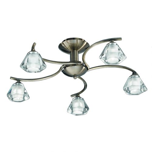 Semi-Flush Ceiling Light Fitting Bronze Sirocco LEK60851