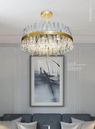 Avivo Fantasia AVI/PD1789-24A 24 Light Gold Ceiling Pendant