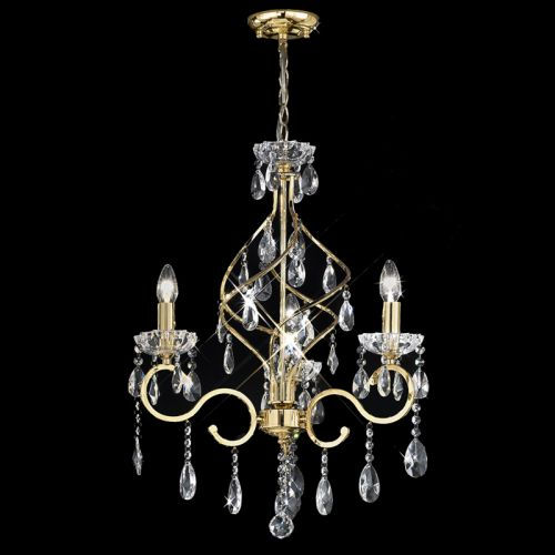 Gold Ceiling Fitting With Crystal Drops Georgette LEK60789