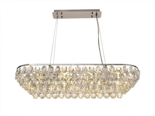 Diyas Coniston Linear Bar Pendant 8 Light Polished Chrome/Crystal DIY/IL32820