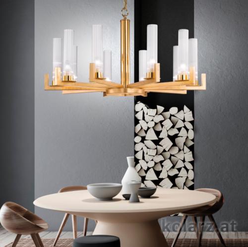 Kolarz Raggio 10 Light Ceiling Chandelier Gold Leaf 6009.81030