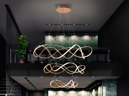 Schuller Molly 763455 3-Storey Large LED Ceiling Pendant Rose Gold