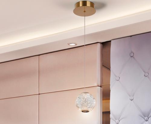 Schuller Austral 354004 1 Light LED Ceiling Pendant Gold