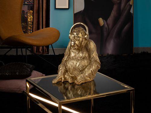 Orangutan Music Medium Decorative Figure Gold Leaf