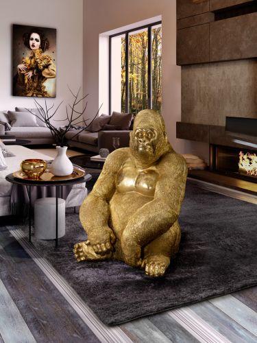 Kong Gorilla Large Decorative Figure Gold Leaf