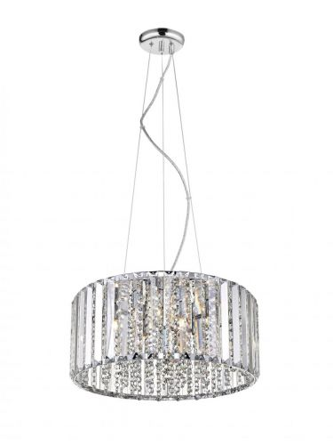 Impex CFH1925/05/CH Diore 5 Light Crystal Celling Pendant Chrome